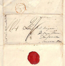 BS197 1812 GB CAMBRIDGE UNIVERSITY Letter *E.C* Emmanuel College Cover Hollam