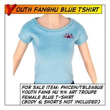 Phicen/TBLeague Hot Youth Fang Hu 芳华 Blue T-Shirt for 1/6 12 in scale Toys