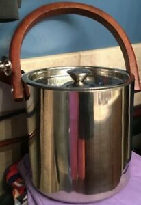 Tommy Bahama Stainless Ice Bucket Barware Tiki Party Mancave