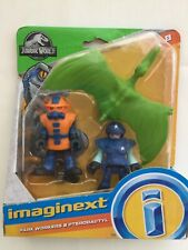 Imaginext Jurassic World Park Workers and Pterodactyl Figures new