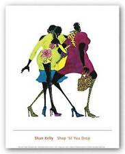 Shop 'til You Drop Shan Kelly African American Art Print 16x17