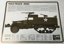 Half-Truck M9A1 Technical Information Sheet High Grade Lithograph 24x18.5