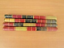 4 Pcs Old Vintage Carved Lacquer Painted Multi Colour Wooden Dandiya Sticks