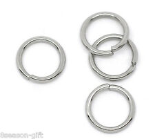 200 Stainless Steel Open Jump Rings 10mm Dia. Findings