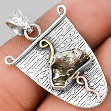 Two Tone - Meteorite Campo Del Cielo - Argentina 925 Silver Pendant PP25875