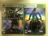 Xbox 360 Action Lot - Darksiders & Darksiders II 2 with Manuals