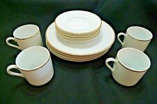 TIFFANY & CO 12 PC LUNCHEON SET DEMITASSE CUPS SAUCER PLATES EXCELLENT CONDITION