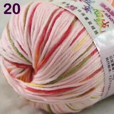 Sale New 1Ball x 50g Cashmere Silk Wool Hand Knit Wrap Shawls Crochet Yarn 20