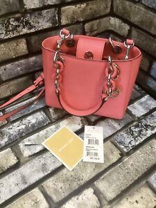 Michael Kors Cynthia Coral XS Satchel Crossbody Bag NWT Rrp £240