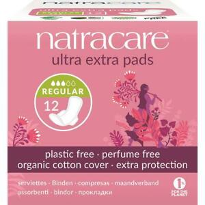 Natracare Ultra Extra Pads Normal with wings 12's (Pack of 6)