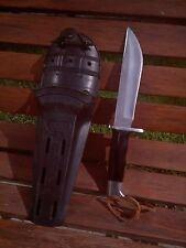 rare vintage Buck 122 Nemo Knife-brown spacers- with original sheath!!- LOOK!