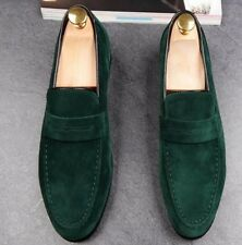 Men Suede Slip On Loafers Moccasins Round Toe Driving Dress Casual Shoes Fashion