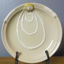 "Fitz and Floyd Vintage Plate Edith 1977 All in the Family 8.5"" Woman with Pearls"