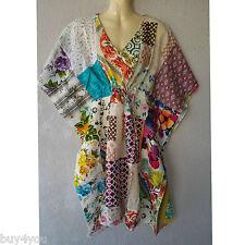 Summer Beach Dress Kaftan Boho Goa Indian Takshita Kimono Patchwork