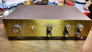 Dynaco Pas 2 tube preamp preamplifier. Rare oversized brass faceplate version