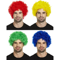 Curly Afro Clown Wig Funky Disco Style Mens Ladies Fancy Dress Hair Accessory