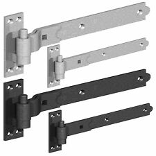 Heavy Duty Hook and Band Gate Shed Stable Door Hinges Galvanised or Black