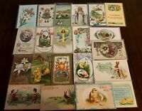 ~Lot of 20 Easter Postcards~Rabbits~Chicks~~Flowers~in Sleeves--s-60