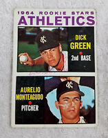 Dick Green Autographed Signed 1964 Topps Card KC Athletics Rookies JSA Certified