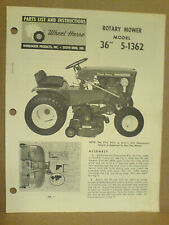Wheel Horse Rm-5-1326 Rotary Mower Operator, Assembly, And Parts List. Original!