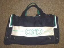 Vtg OGIO Black/Green Locket Gym BIG ZIP DUFFLE BAG Travel Tennis Athletic NICE!