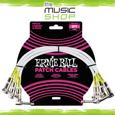 Ernie Ball 1ft Angle/Angle White Guitar Patch Cable (3 Pack) - 6055