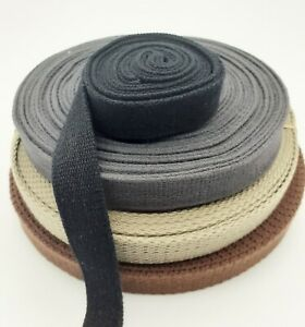 20mm Canvas Thick Bag Belt Tape Strap  Brown Webbing Cotton  Craft