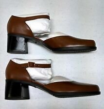Naturalizer Shoes Womens New Genuine Leather Brown Mary Janes Strap Sz 8 1/2 M