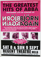 BJORN AGAIN 2005 AUSTRALIAN CONCERT TOUR POSTER- Pop, Europop, Disco Music, Abba