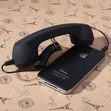 3.5mm Mic Retro POP Cell Phone Handset For Mac Iphone 2 3 4 4s,Ipad,Nokia Black