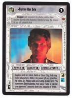 SWCCG Star Wars CCG • Captain Han Solo • CLOUD CITY BLACK BORDERED RARE NM