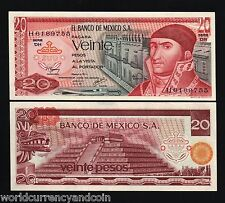 MEXICO 20 PESOS P64 1972-1977 PYRAMID UNC LATINO CURRENCY MONEY BILL BANK NOTE