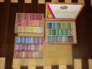 Rembrandt Talens Pastels Set of 266 Original Wood 3-Level Box Holland Vintage