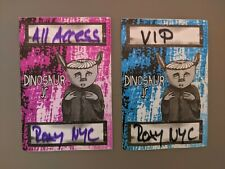 DINOSAUR Jr (2) Pink Blue concert passes pass concert backstage VIP Roxy NYC Lot