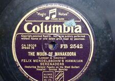 78 rpm FELIX MENDELSSOHN HAIWAIIAN SERENADERS moon of manakoora / kiss me again