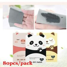 80pcs/Pack Oil Control Blotting Paper Bamboo Charcoal Oil Absorbing Effective