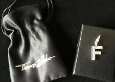 New Genuine Thomas Sabo Zirconia Set Letter Initial F Silver 925 Charm