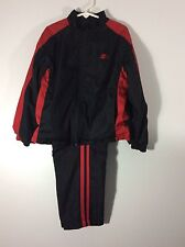 Starter boys two piece warm up suit size 4/5 XS black fully lined   26