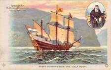 Hudson Fulton Celebration Half Moon Sail Ship Boat Antique Postcard K51772