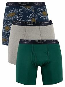 Ted Baker Men's 3 Pack Fitted Boxer Briefs, Multicoloured