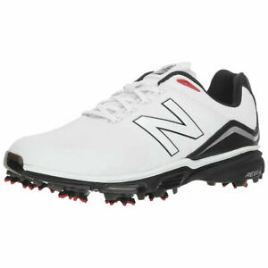 New Balance Mens Tour NBG3001 Microfibre Leather Golf Shoes - White