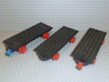LEGO® Eisenbahn 4,5V 3x Grund-Waggon 6 x 16 Magneten 736c02 725 182 726 137 R406