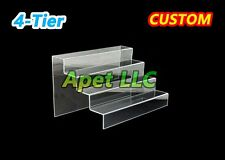 "Display Riser Stand Toy Jewelry Showcase acrylic plexiglass 4 steps 12""x10""x7"""