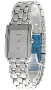 New Rado DiaStar Quartz S-Steel Gray Dial Date Men's Watch R20484103