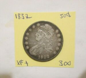 1832 CAPPED BUST HALF DOLLAR EXTRA FINE to BETTER zzxs