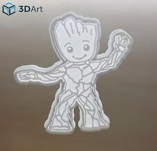 Cutter Baby Groot Cookie Topper Guardians Galaxy Multi Size Food Safe 2 Fondant