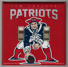 New England Patriots Retro Logo Double Light Switch Cover Plate
