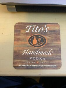 tito's vodka Coaster