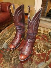 Lucchese Cherry Black mens boots. Size 8 D.
