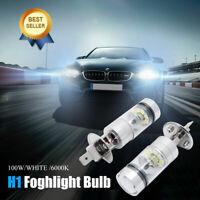 1 paire H1 100W LED 20 SMD Blanc Lampe Phare Voiture Lumière DRL Ampoule 6000K